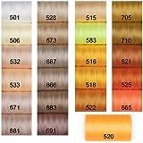 Polyester Nähgarn, 10 Spulen a 1000 Yards, Auswahl aus 100 Farben