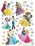 1art1 106581 Disney Prinzessin - Ariel, Jasmine, Rapunzel, Belle, Cinderella and Snow White, Disney Wand-Tattoo Aufkleber Poster-Sticker 30 x 30 cm