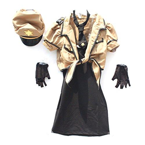 Polizei Kostüm Tanz - Halloween Polizei Kleidung Make-up Tanz Cosplay Set Männer und Frauen Stil (Farbe : Female)