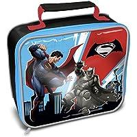 Preisvergleich für Kinder Lunch-Tasche mit Batman v Superman Design, isoliert (Einheitsgröße) (Blau/Rot/Schwarz )
