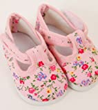 FRILLY LILY Pink Flower Dolly Doodle Shoes small size 6 x 3.5 cm.TO FIT DOLLS SUCH AS 43 CM BABY BORN AND TINY TEARS