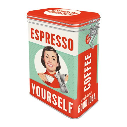 Nostalgic-Art 31104 Say IT 50's - Espresso Yourself | Retro Aromadose| Blech-Dose | Kaffee-Dose |...