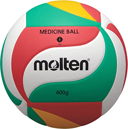 Molten Setter Training Volleyball, Red/Green/Yellow/White -