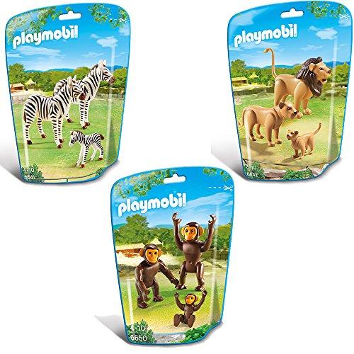 PLAYMOBIL City Life Zoo Set de 3-partes 6641 6642 6650 familia de cebras +...