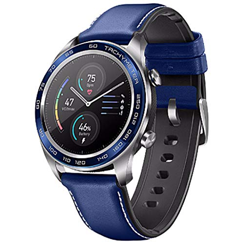 LRWEY Fitness Smart Watch, Huawei Honor Watch Magic Smart Watch Sport Sleep Run Radfahren Schwimmen Berg GPS 1.2 AMOLED-Farbbildschirm, für iOS Android