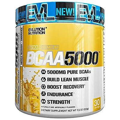 Evlution Nutrition BCAA5000 Powder (30 Servings, Pineapple) 5 Grams of Premium BCAAs