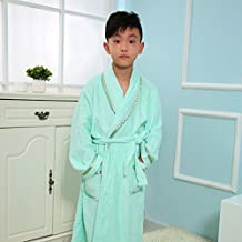GJM Shop in cotone con tasche accappatoio ---- Accappatoio in cotone per bambino Accappatoio laterale luminoso Pigiama da notte per camicia da notte a spessa sezione maschile e femminile --- Lungo / Sette punti / Accappatoio a mezza mani ( Colore : 8 , dimensioni : XXL )