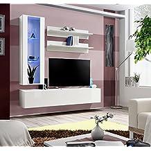 BMF FLY H Moderne Hochglanz Wohnzimmer Schlafzimmer STUDIO Set Flach