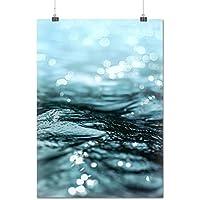 Brillante Mare Acqua Soleggiato Opaco/Lucida Poster A1