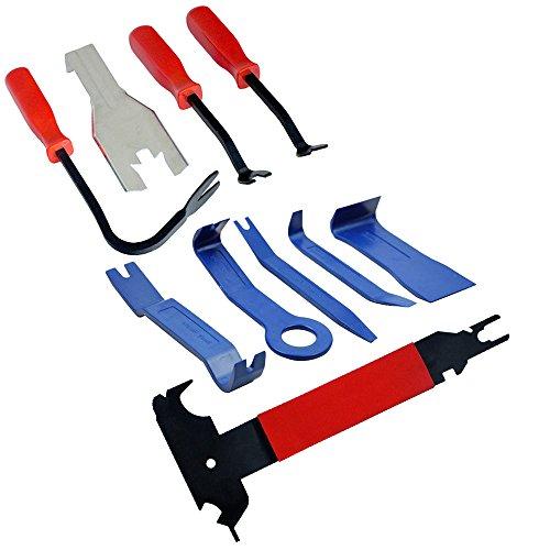 10 pièces de voiture Trim, corps moulé et garniture Panneau de porte Clip Outil de démontage Ensemble