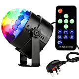 Coidea Disco Lights Glitter Ball LED Sound Actived 7 Colors Disco Ball Light 3W Strobe Light RGB Mirror Ball DJ Lights Stage Light Party Lights Show for Celebrations parties DJ Karaoke Wedding Outdoor and more(with Remote)
