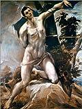 POSTERLOUNGE ALU Dibond 100 x 130 cm: Saint Sebastian de Dominikos Theotokopoulos (El Greco) / akg-Images