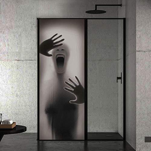te tapetenwandbilder Halloween geist poster hintergrund tier tür wandtattoo dekoration selbstklebende abnehmbare DIY vinyl PVC95x215cm ()