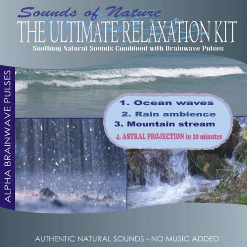 Mountain Stream with Alpha Brainwave Pulses -
