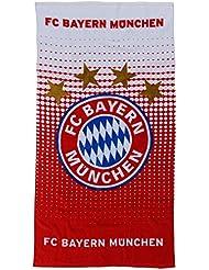 FC Bayern Muenchen 15984 Duschtuch Logo rot/weiss Strandtuch
