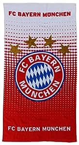 FC Bayern Muenchen 15984 Duschtuch Logo rot/weiss