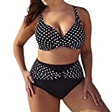 Btruely Bikini-Sets Damen Badeanzug Monokini Frau Bademode Push-Up Tankini Badebekleidung Strand Badeanzug (XXL, Schwarz)