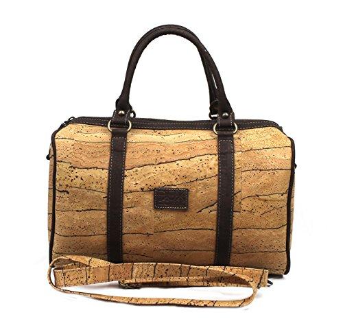 VEGAN CORK TOP-HANDLE BAG ECO-FRIENDLY by Dux Cork GENUINE PORTUGUESE PREMIUM Cork Fabric 100% QUALITY GUARANTEE