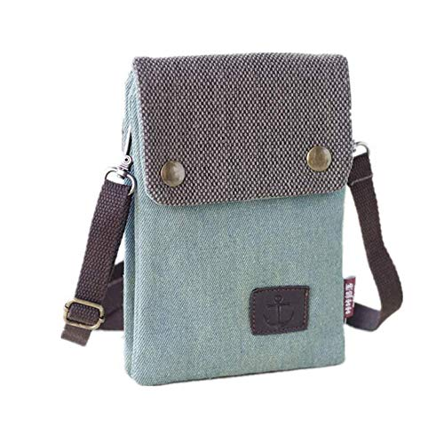 Damen Mädchen Oxford Crossbody Tasche Geldbörse Handyhülle für Google Pixel 3 XL/iPhone XS Max/iPhone XR/iPhone 8 Plus/Samsung Galaxy Note 9 / Note 8 / S9 Plus / S9 Active (I Verwendet Phone Unlocked)