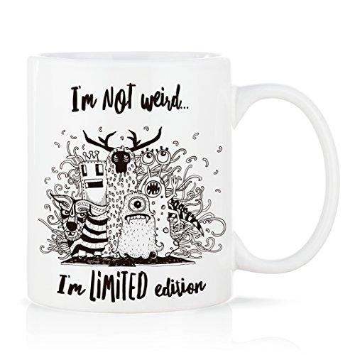 Tasse mug petit-déjeuner de porcelaine blanche 30 cl. avec message modèle Limited Edition