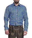Tracht & Pracht - Herren Trachtenhemd Hemd Karo Blau - XXXL