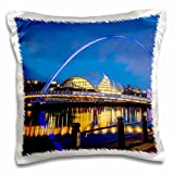 Danita Delimont - Bridges - Gateshead Millennium Bridge and the Sage, Tyne and Wear, England - 16x16 inch Pillow Case (pc_208013_1)