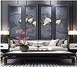 Apoart papier peint Style chinois nuage de bon augure modèle grue rétro TV fond peinture murale 200X140cm(78.74 * 55.11in)