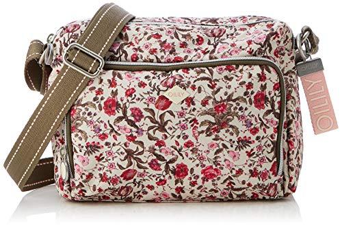 Oilily Damen Groovy Shoulderbag Mvz Schultertasche, Pink (Fuchsia), 11.0x25.0x26.0 cm