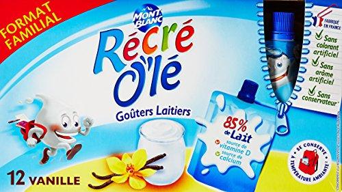 Récré O'lé Goûters Laitiers Vanille 12 x 85 g - Lot de 5