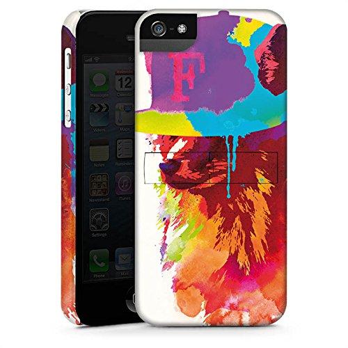 Apple iPhone X Silikon Hülle Case Schutzhülle Fuchs mit Mütze Wasserfarbe Premium Case StandUp