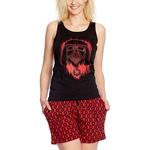 Star Wars Rogue One Damen Schlafanzug Darth Vader Shorty Baumwolle schwarz rot Mehrfarbig