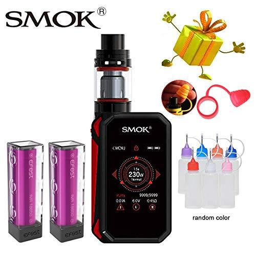 Authentisch Smok E-Zigarette Starter Set, 230w G Priv 2 Kit Ohne Nikotin, Ohne Flüssigkeit (Schwarz Rot)