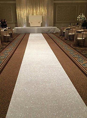 ShinyBeauty 3ftx15ft-aisle Runner Wedding-Gold Sparkly Teppich Läufer für Hochzeit/Weihnachten/Thanksgiving Decor (90x 450cm), elfenbeinfarben, 3FTX15FT