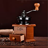 ELECTROPRIME Manual Coffee Bean Spice Nuts Grinder Hand Mill Ceramic Core Antique + Scoop