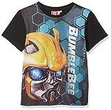 Transformers Bumblebee Jungen T-Shirt Bumblebee Face, Schwarz (Black), 5-6 Jahre