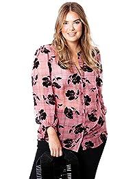 Koko Women/'s Floral Check Wrap Top Ladies Plus Size 16-26