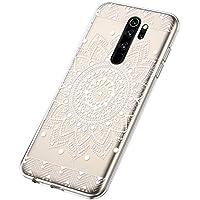 Funda para Xiaomi Redmi Note 8 Pro, Cárcasa Transparente con Dibujos Diseño, Ultra Slim Suave Gel TPU Silicona Antigolpes Resistente Case Cover Bumper Fundas Xiaomi Redmi Note 8 Pro, Flor del Sol