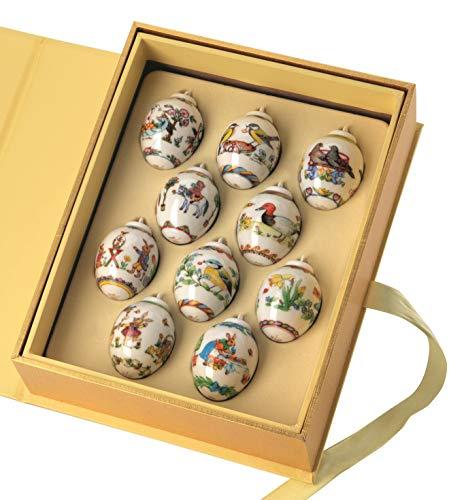 Hutschenreuther sammhemen 2019 - scatola con 10 mini-uova, edizione speciale, limitazione: 2000 esemplari
