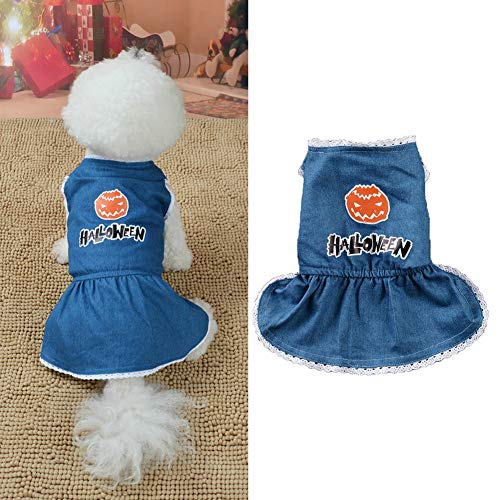 Frankenstein Cute Kostüm - strimusimak Halloween Pumpkin Print Cute Puppy Hund Kleidung Kleidung Kleidung Kostüm-M