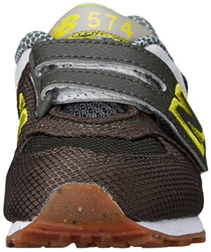 New Balance KG574 Expedition Running Shoe (Infant/Toddler) Green/Yellow