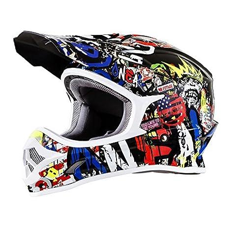 O'Neal 3SRS Adulte Off-road-helmet-style Attack casque (Noir/haute visibilité, XS)
