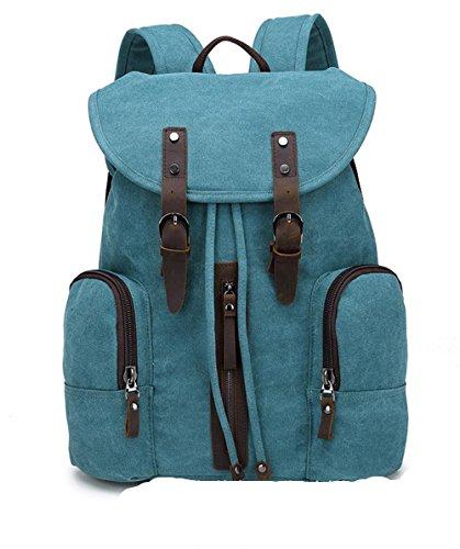 Xiuxiandianju 20L - 35L Canvas Rucksack neue Männer und Frauen Tasche koreanischen Handtasche Rucksack Student Reisetaschen Blue