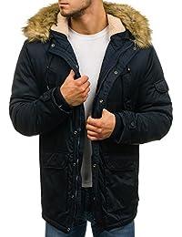 82a9de7fd7 BOLF Hombre Chaqueta de Invierno Parka con Capucha Pelo Artificial Estilo  Diario 4D4