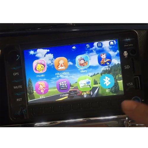 RC Auto kaufen Kinderauto Bild 2: crooza Touareg Touch-Display Bluetooth SoftStart Kinderauto Kinderfahrzeug Kinder Elektroauto SCHWARZ*