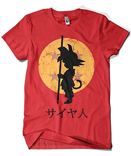 Camisetas La Colmena 164 - Looking For The Dragon Balls (Ddjvigo) (Roja, XL)