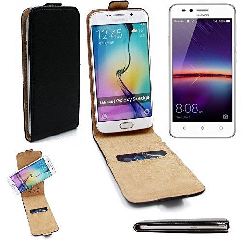 K-S-Trade® Für Huawei Y3 II Dual-SIM Flipstyle Schutz Hülle 360° Smartphone Tasche, Schwarz, Case Flip Cover Für Huawei Y3 II Dual-SIM