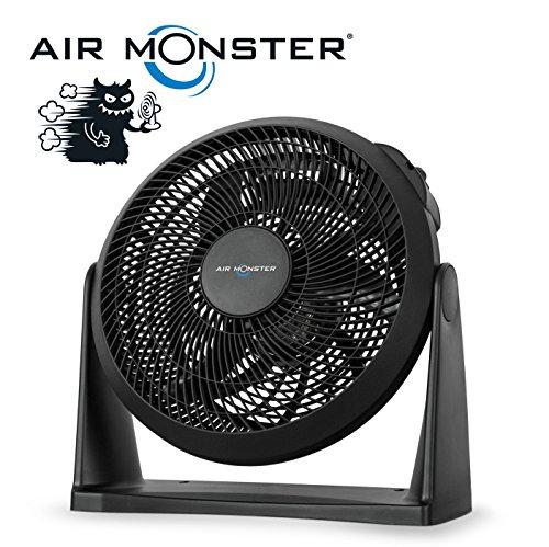 Air Monster® 2-in-1 Wand & Boden Windmaschine / Ventilator | Ø 30 cm | 45 Watt | 3-Stufen | Standventilator / Wandventilator