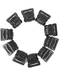 10pcs Plástico Negro Clips Carpa Toldo Acampar C Para Postes De 10mm-13mm