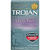 Trojan Condom Sensitivity Ultra Thin Spermicidal, 12 Count by Trojan preisvergleich bei billige-tabletten.eu