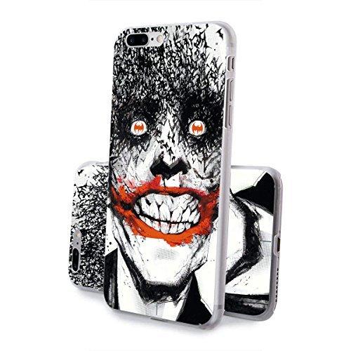finoo   iPhone 8 Handy-Tasche Schutzhülle   ultra leichte transparente Handyhülle in harter Ausführung   kratzfeste stylische Hard Schale mit Motiv Cover Case  Logo become bat Joker Face